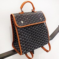 Goyard Woman Men Leather Daypack Travel Bag Bookbag Shoulder Bag Backpack