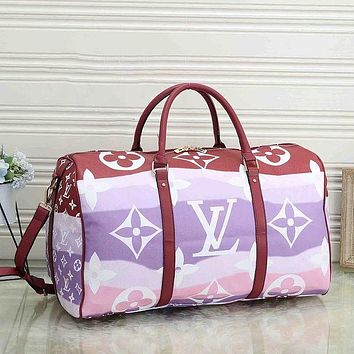 LV Louis Vuitton classic large-capacity travel bag fashion men's and women's hand luggage bag shoulder messenger bag