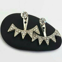 Spiked Ear Jackets - Ear Cuff - Stud Earrings - Ear Jacket Earrings