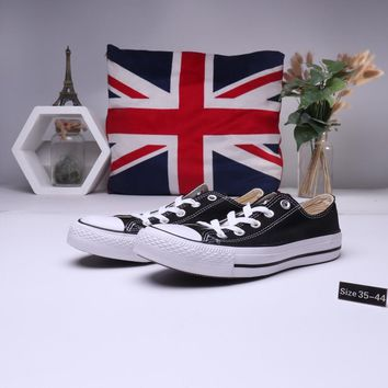 """Converse All Star"" Unisex Casual Classic Low Help Canvas Shoes Couple All-match Flat Cloth Shoes"