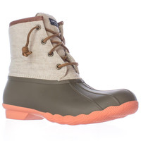 Sperry Top-Sider Saltwater Short Rain Boots - Taupe/Natural