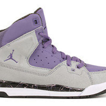 Nike Girls Jordan SC-1 439658 008 New GS Kids Youth Purple Earth Black White
