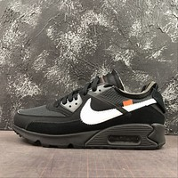 Off-White x Nike Air Max 90 Black Running Shoes - Best Deal Online