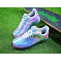 Nike Air Force 1 Low New York City NYC Ice Blue Sliver Iridescent Sport Shoes 779456-991 Sneaker - Sale