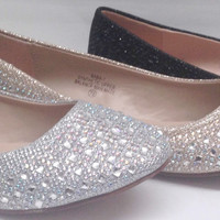 Women's Blossom Baba1 WEDDING PAGEANT Rhinestone Round Toe Dressy Flats Shoes