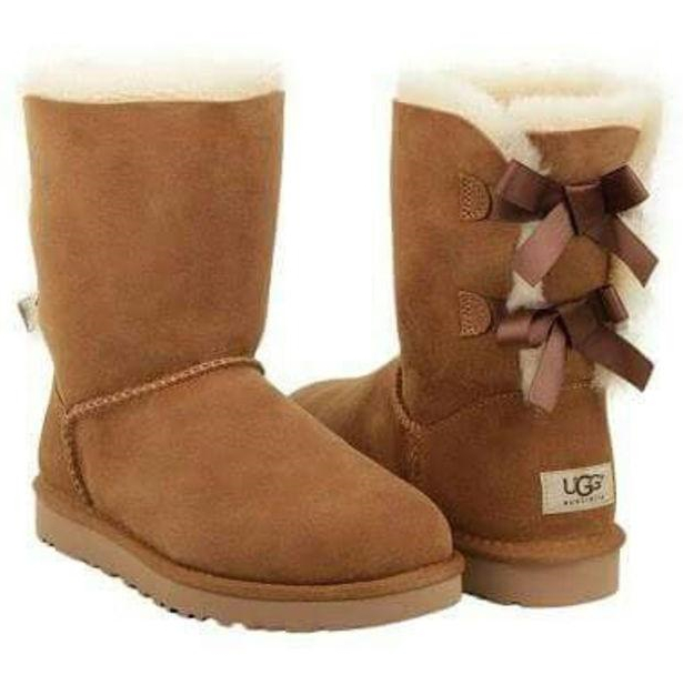 """Image of """"UGG"""" Fashion Winter Women Cute Bowknot Flat Warm Snow Ankle Boots"""