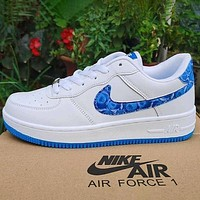 Nike x Louis Vuitton LV white shoes casual trend board shoes men and women air force one shoes-1