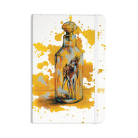 "Kira Crees ""Vintage Bottled Deer"" Yellow White Everything Notebook"
