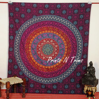 Large Indian Mandala Tapestry Hippie Hippy Wall Hanging Throw Bedspread Dorm Tapestry Decorative Wall Hanging Picnic Beach Sheet Coverlet