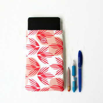 7 inch tablet cover, hand printed fabric, fabric kindle case, nexus 7 cover, kindle fire, Samsung Galaxy Tab 7.0, handmade in the UK
