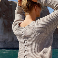 Aerie Lace-Up Tunic Sweater, Holiday Heather Brown