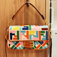 Fendi More FF Print vintage retro bag Colorful shoulder bag