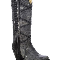 Women's Braided Fringe Tall Boots