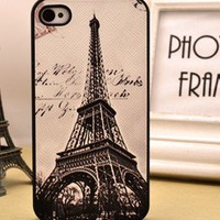 Retro Eiffel Tower Hard Cover Case For Iphone 4/4s
