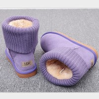UGG Fashion Plush leather boots boots in tube Boots Purple Tagre™