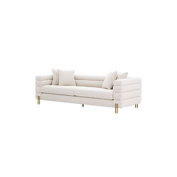 Art Deco Bouclé Cream Sofa - Eichholtz York