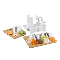 Evelots® 3 Blade Spiral Vegetable Cutter & Slicer With 3 Changeable Shapes