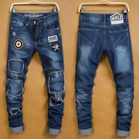 Winter Stylish Men Pants Korean Fashion Jeans [6528535363]