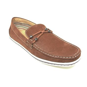 Mens Polar Fox Suedette Slip On Casual Loafers Shoes 30206 Brown-378