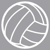 Small Volleyball White Decal Car Window Laptop White Sticker