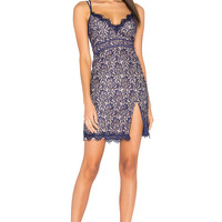 STYLESTALKER Adelie Mini Dress in Neptune