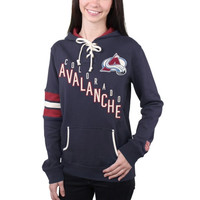 Colorado Avalanche Old Time Hockey Women's Nadia Lace-Up Pullover Hoodie – Navy Blue