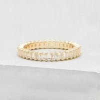 Vertical Baguette Eternity Band - Gold