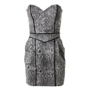 Guess Womens Snake Print Faux Leather Clubwear Dress