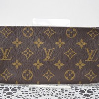 Authentic Louis Vuitton Cosmetic Pouch Bucket Pouch Browns Monogram 41624