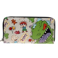 Rugrats Letter Zip Around Wallet pu Long Fashion Women Wallets Designer Brand  Purse Lady Party Wallet Female Card Holder