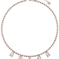 OLD ENGLISH Name Diamond Cut Bead Choker