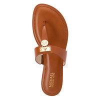 MICHAEL Michael Kors Hamilton Flat Sandal | Women's - Luggage Leather