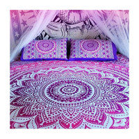 Pink ombre Wall Hanging Beach Throw Bedspread Mandala Wall Hanging – TheNanoDesigns