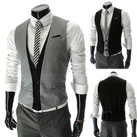 Men Fashion Slim Fit Vest