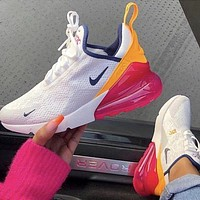 Nike Air Max 270 third-generation shoes Half Palm Air Cushion Mesh Surface Breathable men's and women's casual sports shoes