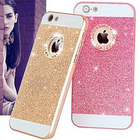 Lovely Fundas Candy Glitter Bling Diamond Back Cover For iPhone 7 6 6S Plus X 8 Plus Hard Phone Cases for iPhone 5 5S SE 4 4S