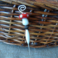 Dabber-Dab Stick-Beaded Dabber-Pipe Poker-Red & White Mushroom-Smoke Accessories-Smoke Shop-Weed Accessories-Cannabis Accessories-#270