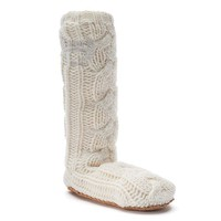 Juicy Couture Cable-Knit Knee-High Women's Slippers
