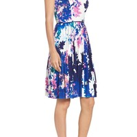 Maggy London Stretch Fit & Flare Dress (Regular & Petite) | Nordstrom
