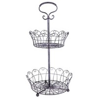 Black & Pink 2-Tiered Wire Basket Tray Stand | Shop Hobby Lobby