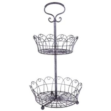 Black & Pink 2-Tiered Wire Basket Tray Stand   Shop Hobby Lobby