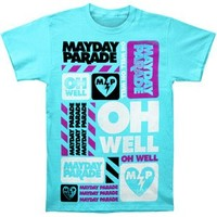 Mayday Parade Men's Oh Well T-shirt Small Blue