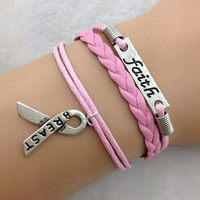 Breast Cancer Awareness & Faith Bracelet