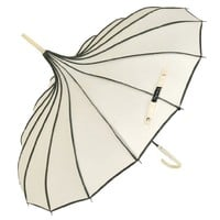 Topwedding 35'' Nylon Pagoda Parasol Bridal Umbrella,Ivory