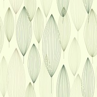 Trees Green Leaves Geometric Multicolored Wallpaper Reusable Removable Accent Wall Interior Art (wal019)