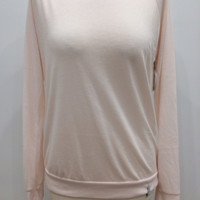 Knit Lace Long Sleeve- Soft Pink