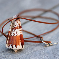 Large Seashell Necklace Long Beach Necklace Summer Beach Jewelry