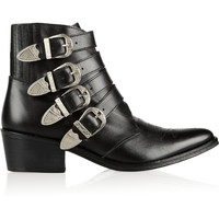 Toga - Buckled leather ankle boots