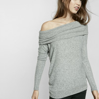 Express One Eleven Brushed Convertible Cowl Neck Tee