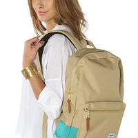 HERSCHEL SUPPLY The Settlement Mid Volume Backpack in Khaki and Teal : Karmaloop.com - Global Concrete Culture